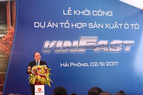 Vingroup khởi công Dự án Tổ hợp sản xuất ô tô VINFAST ảnh 1