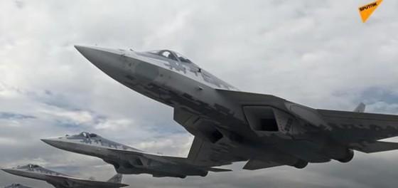 Tiêm kích thế hệ năm Su-57. Ảnh: Sputnik