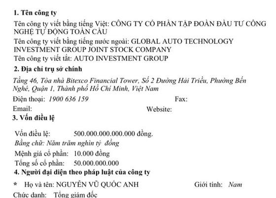 Báo cáo Bộ Công an về doanh nghiệp đăng ký vốn trên 525.000 tỷ đồng ảnh 1