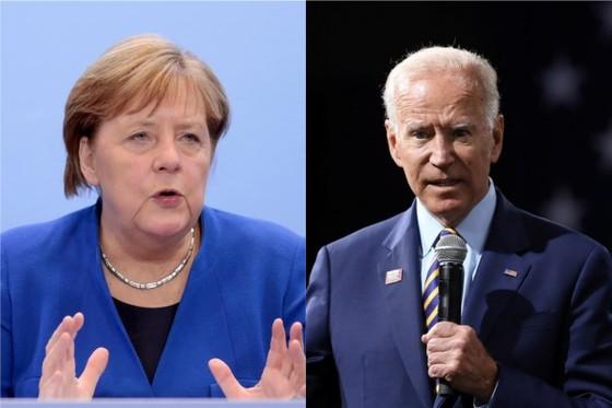 Thủ tướng Đức Angela Merkel và Tổng thống Mỹ Joe Biden. Ảnh: Reuters