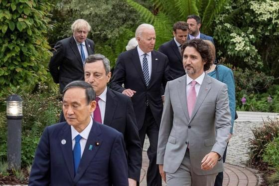 Các nhà lãnh đạo G7 dự thượng đỉnh ở Cornwall, Anh, hôm 11/6 - Ảnh: Reuters.