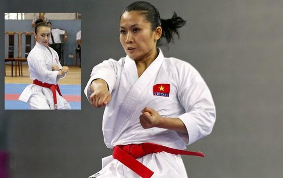 Nguyễn Thị Hằng (ảnh nhỏ) vẫn nỗ lực để được như Hoàng Ngân (ảnh lớn).      Ảnh: T.L