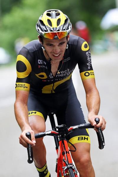 Lilian Calmejane căng sức trên đường đua.