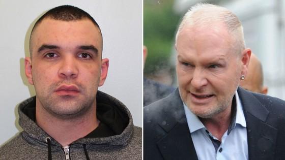Lewis Beard (trái) đã hành hung Paul Gascoigne.