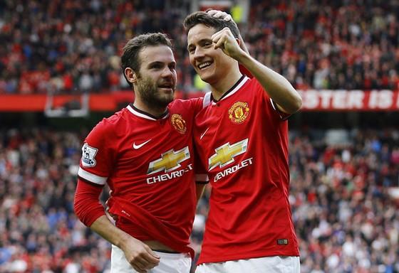 Ander Herrera (phải) và Juan Mata là những nhân tố quan trọngcủa Man.United.