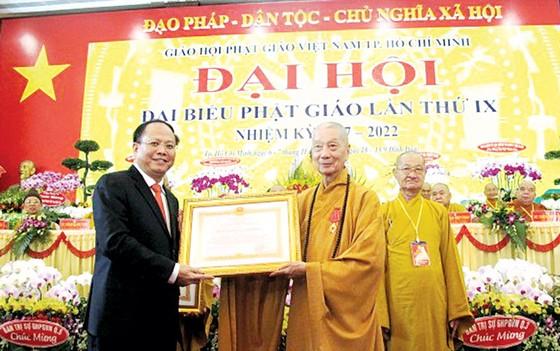 Hòa thượng Thích Trí Quảng tiếp tục giữ chức Trưởng ban Trị sự Giáo hội Phật giáo Việt Nam TPHCM ảnh 1