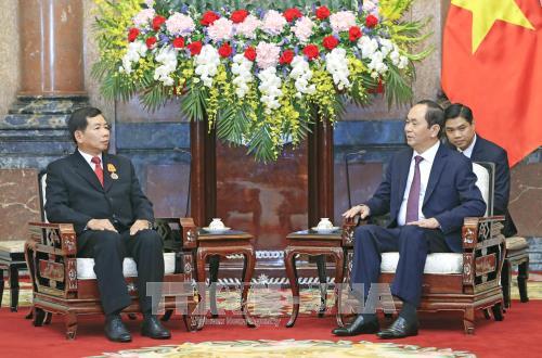 Chủ tịch nước Trần Đại Quang tiếp Chánh án Tòa án nhân dân tối cao Lào ảnh 1