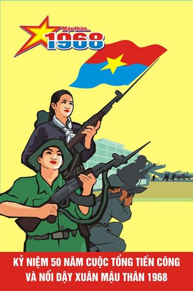Trao giải sáng tác tranh cổ động kỷ niệm 50 năm cuộc Tổng tiến công và nổi dậy Xuân Mậu Thân 1968 ảnh 1