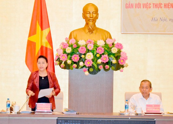 Đoàn kiểm tra của Bộ Chính trị làm việc với Đảng đoàn Quốc hội ảnh 1