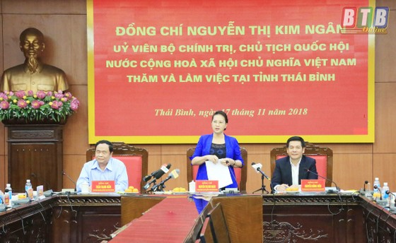 Chủ tịch Quốc hội Nguyễn Thị Kim Ngân thăm và làm việc tại Thái Bình  ảnh 1