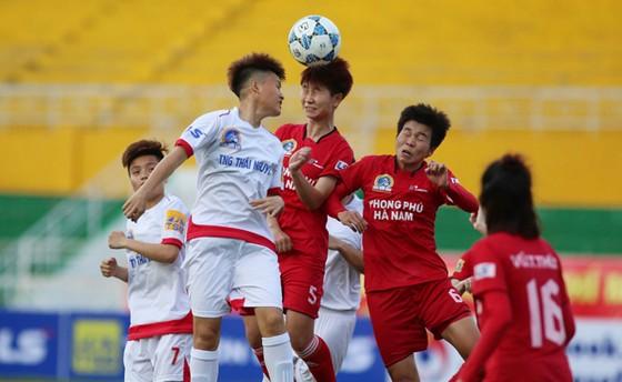 Phong Phú Hà Nam có trận thắng đậm 5-0 trước TNG Thái Nguyên. Ảnh: Dũng Phương