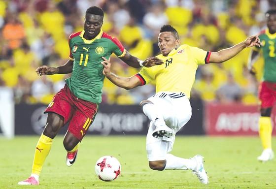 Cameroon (trái) là ẩn số khó lường nhất tại bảng B mà Chile cần giải mã.
