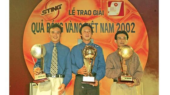 Huỳnh Đức trong năm thứ 3 đoạt giải Quả bóng vàng. Ảnh: Nguyễn Nhân