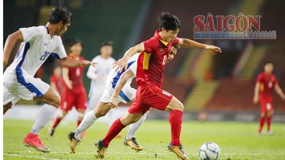 Công Phượng mở tỷ số 1 - 0 cho U22 Việt Nam. Ảnh: DŨNG PHƯƠNG