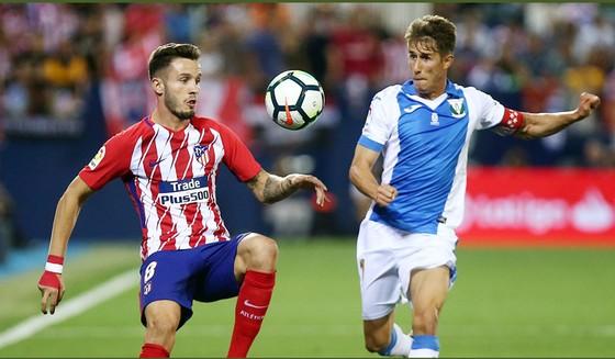 Atletico Madrid (trái) phải chia điểm với chủ nhà Leganes