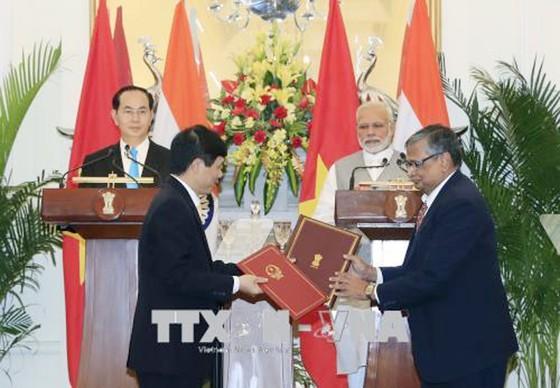 Chủ tịch nước Trần Đại Quang hội đàm với Thủ tướng Ấn Độ Narendra Modi ảnh 2