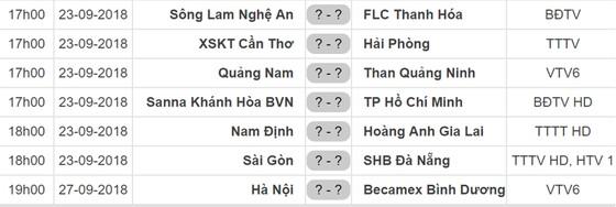Lịch vòng 24 Nuti Cafe V.League 2018: Nam Định tiếp HAGL, Sài Gòn gặp SHB Đà Nẵng ảnh 1