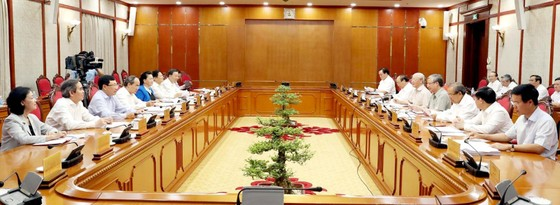 Tổng Bí thư, Chủ tịch nước Nguyễn Phú Trọng chủ trì họp Bộ Chính trị ảnh 1