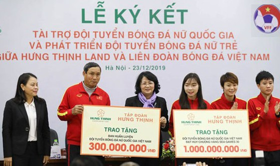 Hưng Thịnh Land tài trợ 100 tỷ đồng cho bóng đá nữ Việt Nam ảnh 1