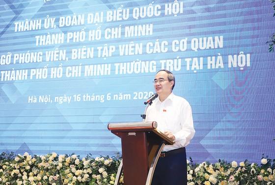 Mong báo chí cùng góp phần thực hiện các mục tiêu chung của TPHCM và cả nước ảnh 1