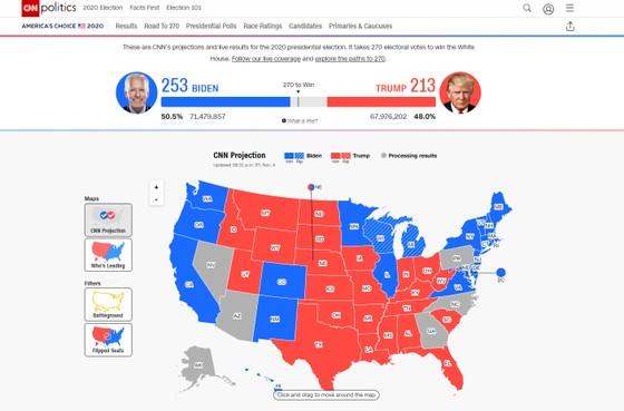 Bầu cử Mỹ 2020: Joe Biden chỉ còn thiếu 6 phiếu để tiến tới cột mốc 270 phiếu đại cử tri ảnh 2