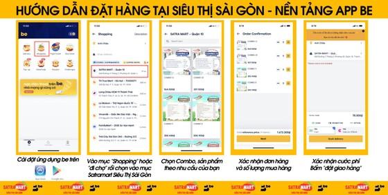 Người dân trên địa bàn quận 10 có thể đặt mua hàng tại Satramart – Siêu thị Sài Gòn qua ứng dụng di động ảnh 1