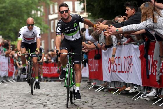 Mark Cavnedish ở Dusseldorf, nơi sẽ diễn ra chặng đua khai mạc của Tour de France năm nay