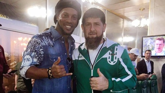 Ronaldinho và Tổng thống Chechnya Ramzan Kadyrov
