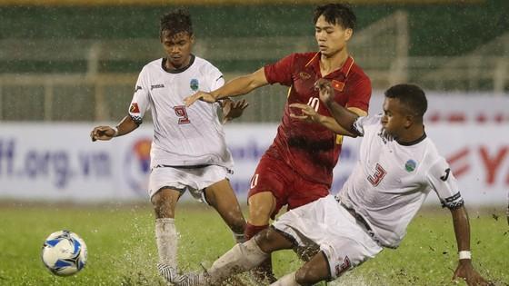 Chỉ cần Đông Timor cầm hòa, U22 Việt Nam (giữa) sẽ gặp khó trên chặng đường chinh phục HCV SEA Games