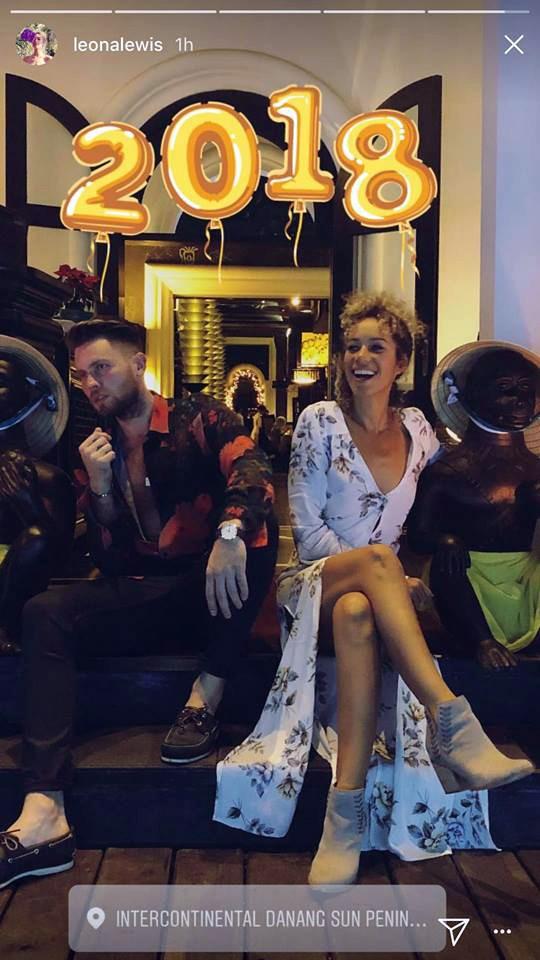 Ca sĩ Leona Lewis cùng bạn trai đón năm mới tại InterContinental Danang Sun Peninsula Resort ảnh 3