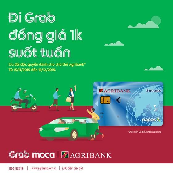 Cùng thẻ Agribank đi Grab 1k suốt tuần ảnh 1