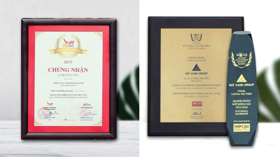 Tập đoàn Đất Xanh cùng lúc nhận 3 giải thưởng bất động sản ảnh 1
