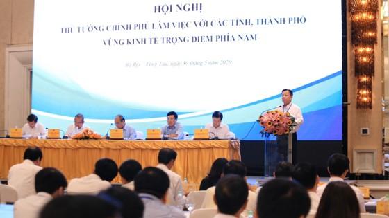 Thủ tướng Nguyễn Xuân Phúc làm việc với các tỉnh, thành phố Vùng kinh tế trọng điểm phía Nam ảnh 1