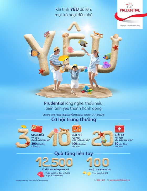 Chiến dịch 'Khi tình yêu đủ lớn' của Prudential cùng chương trình tri ân khách hàng lên đến 12 tỷ đồng ảnh 2