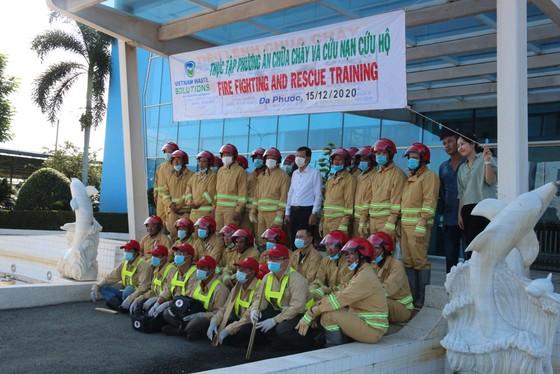 VWS phối hợp với Công an huyện Bình Chánh tổ chức diễn tập PCCC ảnh 1
