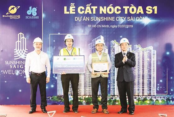 Tòa tháp S1 dự án SunShine City Sài Gòn do Công ty CP  Tập đoàn Xây dựng Hòa Bình thi công vượt tiến độ 35 ngày ảnh 3