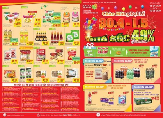 Nhiều chương trình khuyến mại hấp dẫn dịp 30-4 – 1-5 tại hệ thống bán lẻ Satra ảnh 1
