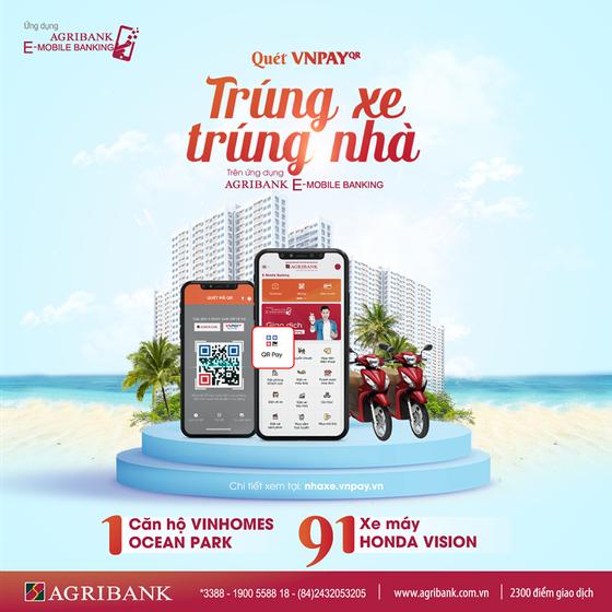 Quét Vnpay QR nhận 'mưa' ưu đãi cùng Agribank e-Mobile Banking ảnh 1