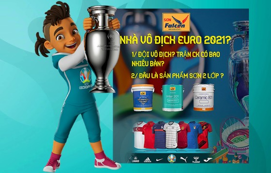 Dự đoán nhà vô địch Euro 2021 cùng thương hiệu Sơn Falcon