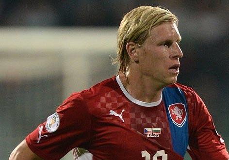 Rajtoral trong màu áo CH Séc.