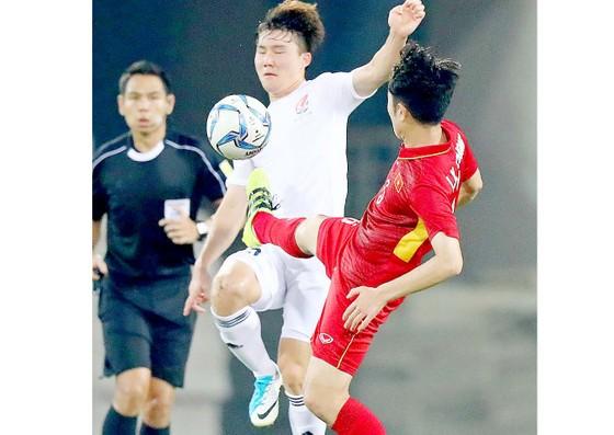 Đội tuyển U.23 Việt Nam trong cuộc so tài cùng đội Các ngôi sao K-League vào tháng 8 vừa qua