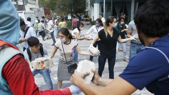 Mexico: Động đất 7,1 độ Richter, ít nhất 149 người thiệt mạng ảnh 5