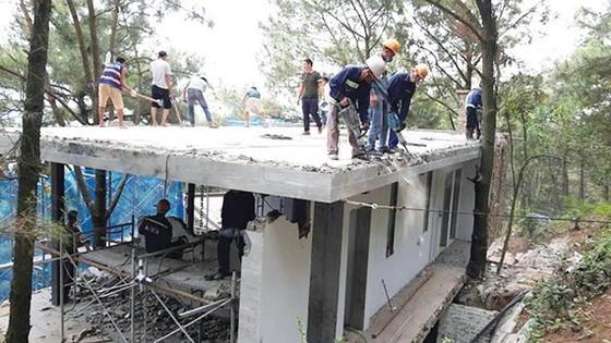 Một số công trình vi phạm tại xã Minh Phú đã bị cưỡng chế