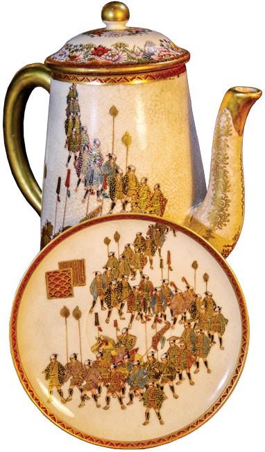 Lịch sử Hoàng gia Nhật Bản trên gốm sứ Satsuma ảnh 4