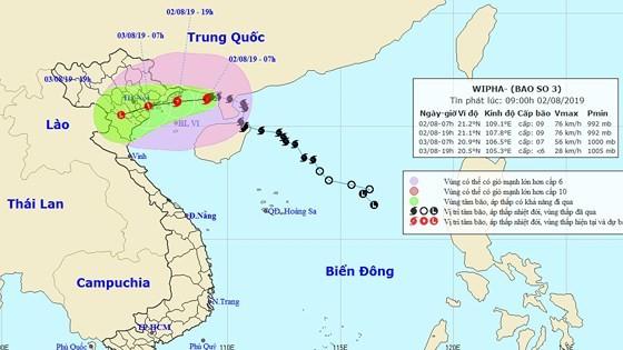 Chiều tối ngày 2-8, bão số 3 giật cấp 12 đi vào vùng biển Quảng Ninh - Hải Phòng ảnh 1