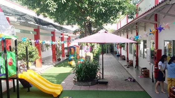 Bên trong khuôn viên cơ sở 2, Trường Mầm non quốc tế WorldKids (phường 15, quận Gò Vấp)