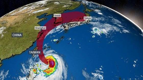 Bão Mitag đổ bộ vào Đài Loan. Nguồn: weather