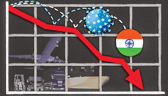 Ấn Độ-Tăng trưởng âm 45% ảnh 1