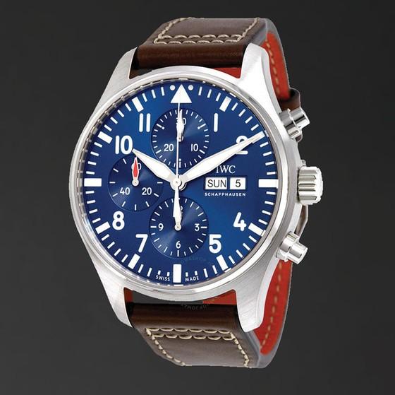 Đồng hồ mặt số màu xanh ảnh 3