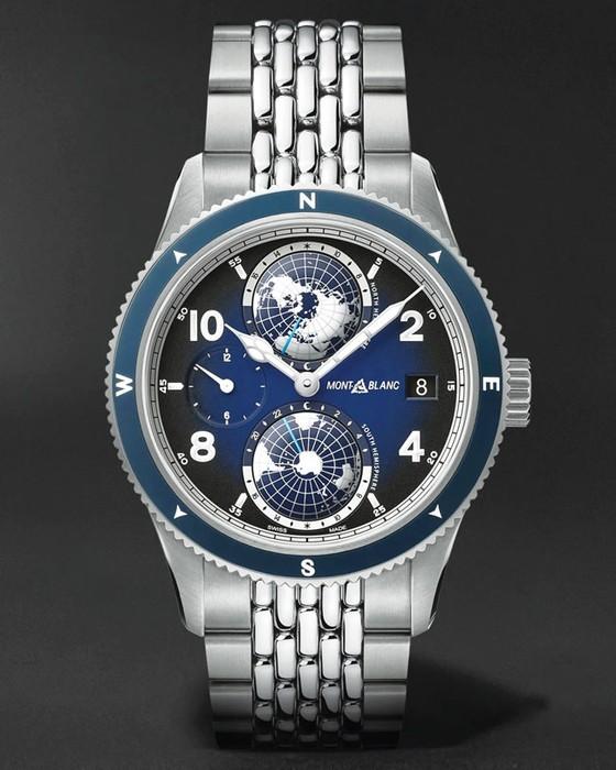 Đồng hồ mặt số màu xanh ảnh 1